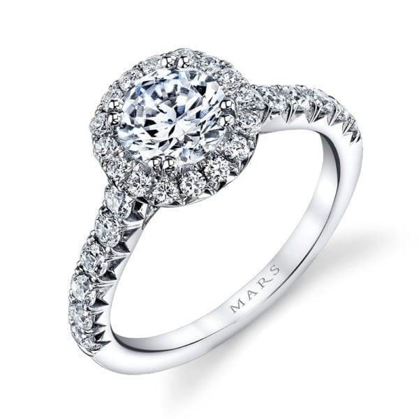 25571 Diamond Engagement Ring 0.74 Ctw.