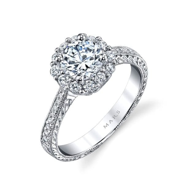 25586 Diamond Engagament Ring  0.55 Ctw.