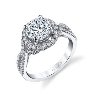 25588 Diamond Engagement Ring 0.51 Ctw.