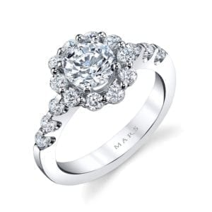 25593 Diamond Engagement Ring 0.77 Ctw.