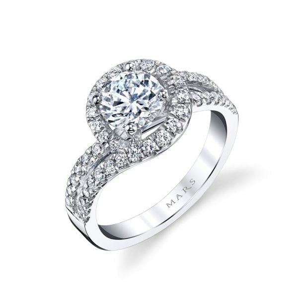 25595 Diamond Engagament Ring  0.73 Ctw.