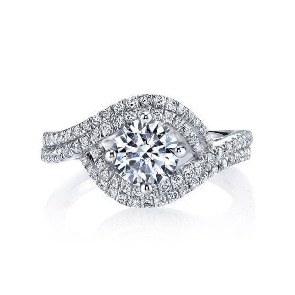 25605 Diamond Engagement Ring 0.57 Ctw.