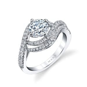 25605 Diamond Engagement Ring 0.57 Ctw.