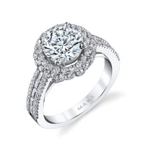 25637 Diamond Engagement Ring 1.09 Ctw.