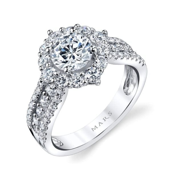25644 Diamond Engagement Ring 1.09 Ctw.