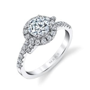 25648 Diamond Engagement Ring 0.53 Ctw.