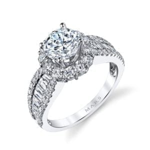 25649 Diamond Engagement Ring 0.80 Ct Rd, 0.37 Ct Bg.