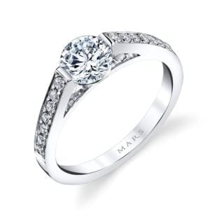 25721 Diamond Engagement Ring 0.20 Ctw.