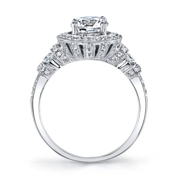 25723 Diamond Engagement Ring 0.52 Ctw.