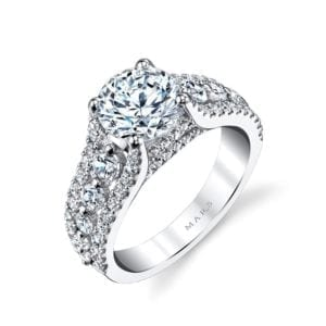 25734 Diamond Engagement Ring 1.02 Ctw.