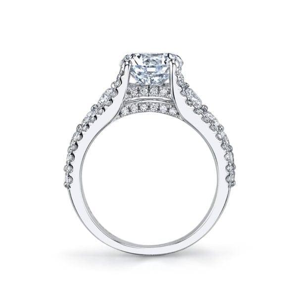 25734 Diamond Engagement Ring 1.02 Ctw.