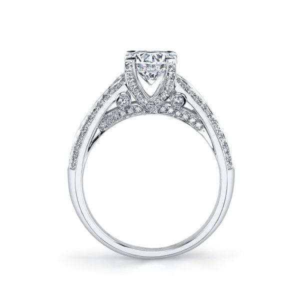 25735 Diamond Engagement Ring 0.59 Ctw.