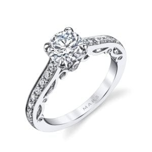 25736 Diamond Engagement Ring 0.45 Ctw.