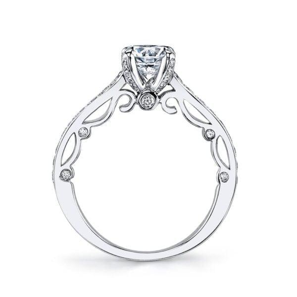 25736 Diamond Engagement Ring 0.45 Ctw.