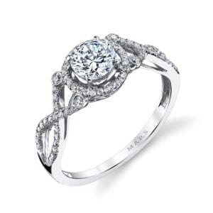 25740 Diamond Engagement Ring 0.22 Ctw.