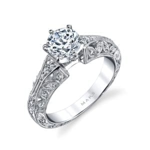 25777 Diamond Engagement Ring, 0.16 Ctw.