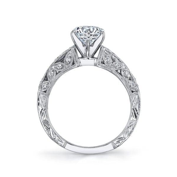 25777 Diamond Engagement Ring, 0.16 Ctw.