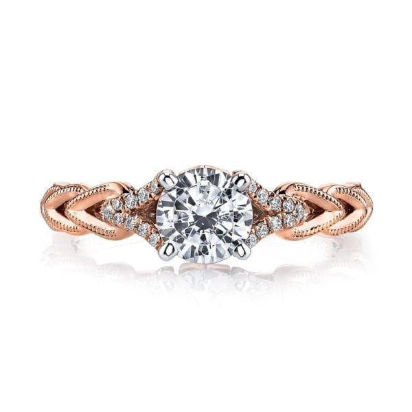 25816 Diamond Engagement Ring 0.08 Ctw.