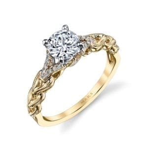 25816YG Diamond Engagement Ring 0.10 Ctw.