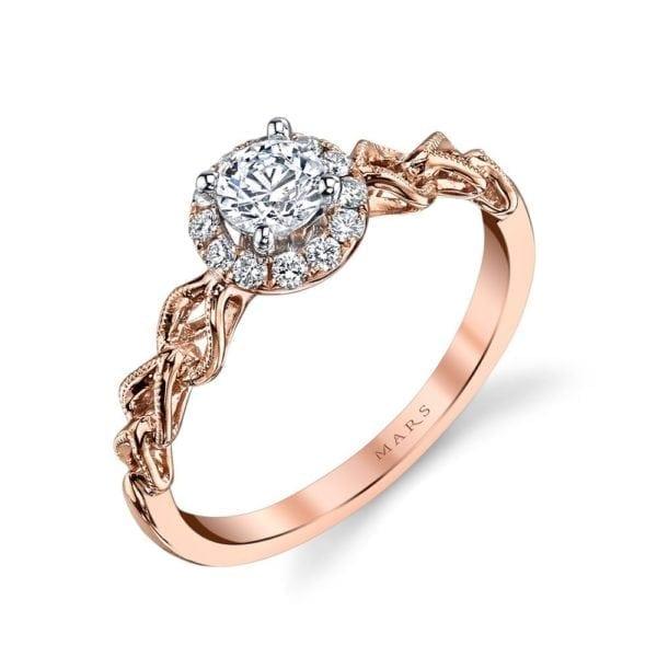 25823 Diamond Engagement Ring 0.15 Ctw.