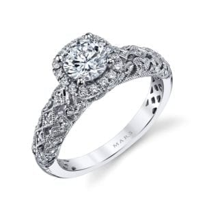 25826 Diamond Engagement Ring 0.30 Ctw.