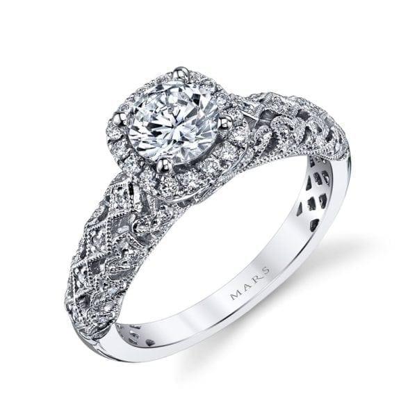 25826 Diamond Engagement Ring 0.30 Ctw.