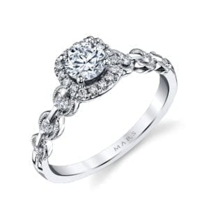 25829 Diamond Engagement Ring 0.25 Ctw.