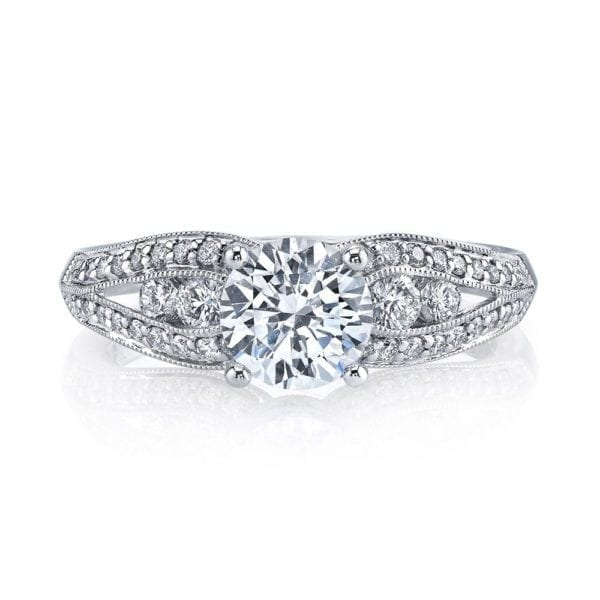 25832 Diamond Engagement Ring 0.49 Ctw.
