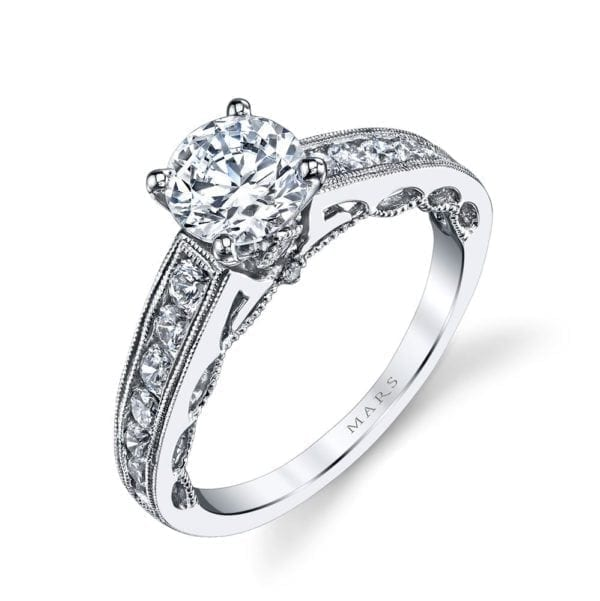 25836 Diamond Engagement Ring 0.50 Ctw.