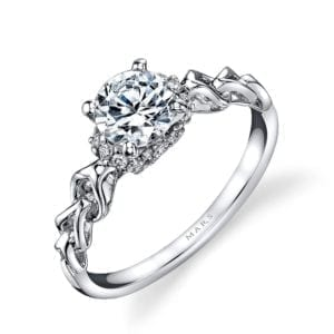 25847 Diamond Engagement Ring 0.12 Ctw.