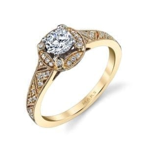 25850 Diamond Engagement Ring 0.13 Ctw.