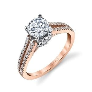 25851 Diamond Engagement Ring 0.33 Ctw.