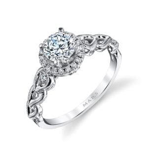 25855 Diamond Engagement Ring 0.14 Ctw.