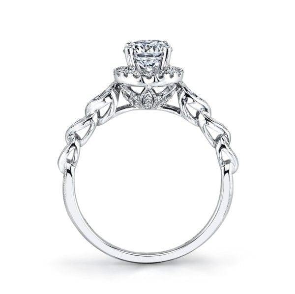25855 Diamond Engagement Ring 0.14 Ctw.