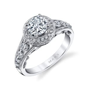 25856 Diamond Engagement Ring 0.73 Ctw.