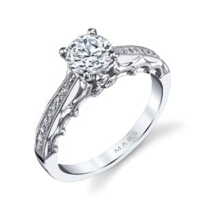 25866 Diamond Engagement Ring 0.14 Ctw.