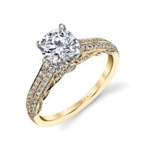 25868 Diamond Engagement Ring 0.31 Ctw.