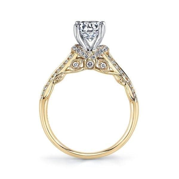 25868 Diamond Engagement Ring 0.31 Ctw.