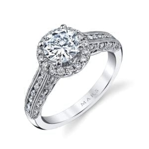 25869 Diamond Engagement Ring 0.54 Ctw.