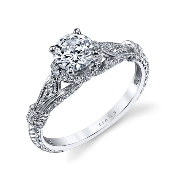 25878 Diamond Engagement Ring 0.25 Ctw.