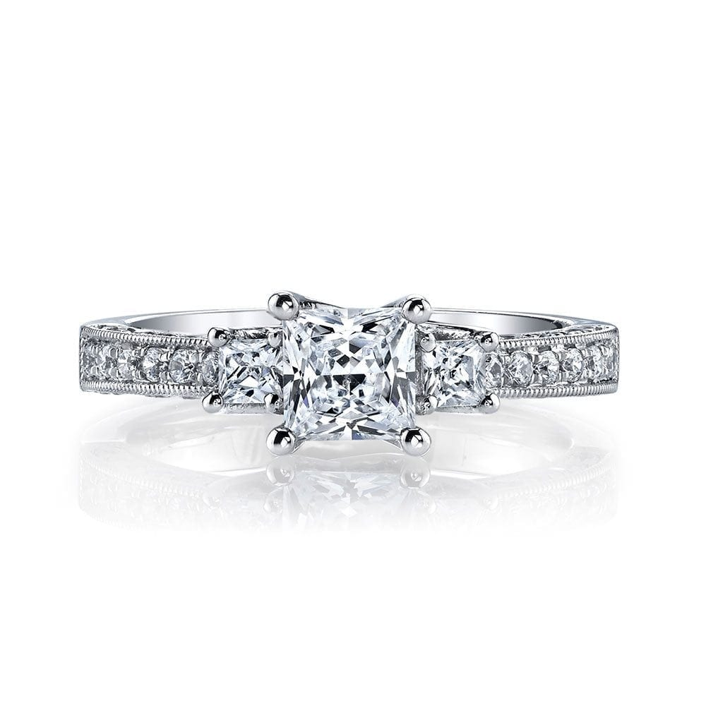 11d43c8d1 25923 Diamond Engagement Ring 0.46 Ct Rd, 0.25 Ct Pr. | CDI Diamonds ...