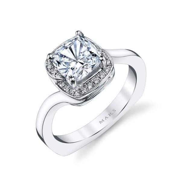 25954 Diamond Engagement Ring, 0.11 Ctw.