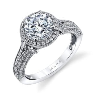 25964 Diamond Engagement Ring 0.60 Ctw.