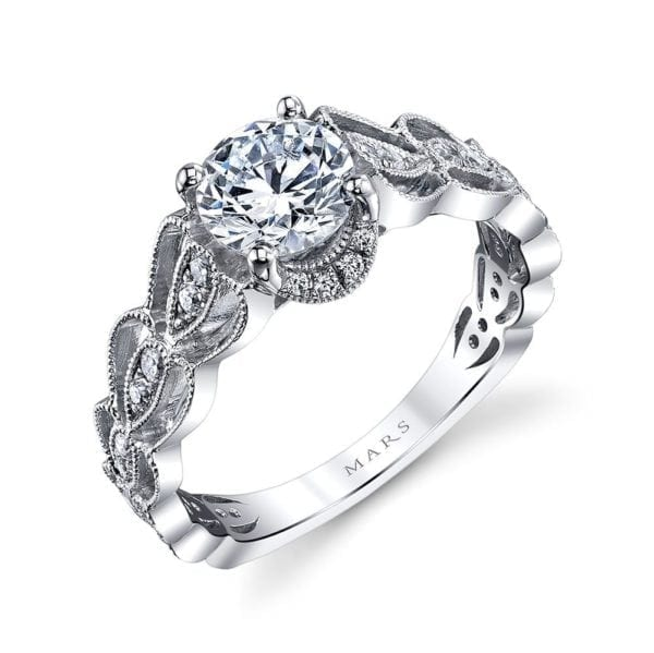 25987 Diamond Engagement Ring 0.28 Ctw.
