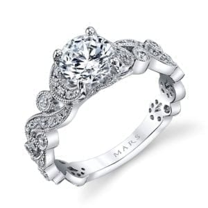 25988 Diamond Engagement Ring 0.40 Ctw.
