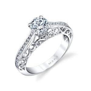 25989 Diamond Engagement Ring 0.18 Ctw.