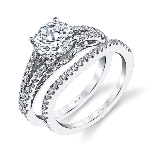 25990 Diamond Engagement Ring 0.43 Ctw.
