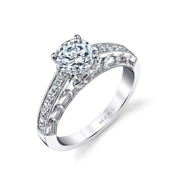 26001 Diamond Engagament Ring 0.25 Ctw.