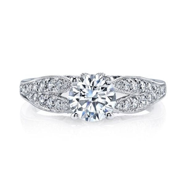 26003 Diamond Engagement Ring 0.36 Ctw.