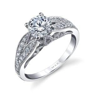 26003 Diamond Engagement Ring 0.36 Ctw.